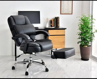 本革オフィスチェアオフィスチェア本革リクライニングフラット無段階固定ISO9001各種試験合格フットレストオットマン付ポケットコイルコイルデスクチェア