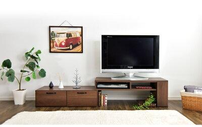 テレビ台ローボード左右変換伸縮テレビ台テレビラック