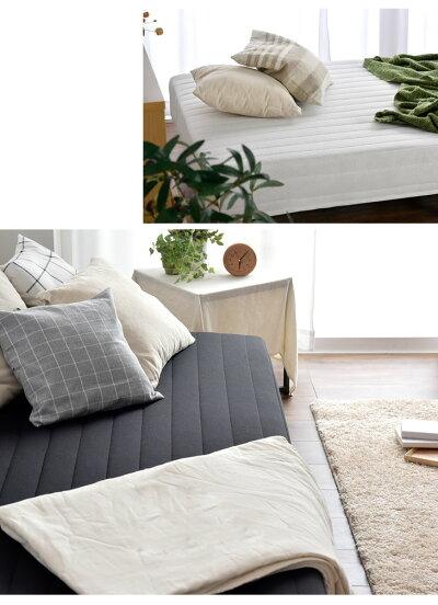 コンパクト梱包脚付きマットレスシングルベッド