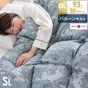 【送料無料】 今年は更に暖か30マスバルーンキルト 日本製 羽毛布団 シングル ロング バルーンフィットキルト 【SEK認…