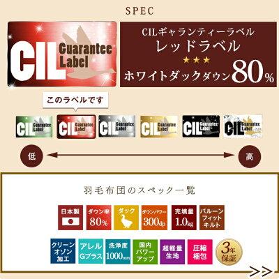 日本製羽毛布団ホワイトダウン80%