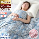 【送料無料/在庫有】《 2枚組 1枚8,900円》 日本製 洗える ダウンケット ホワイトグースダウン 93% 肌掛け布団 掛け…