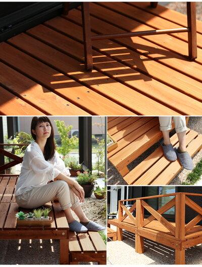ウッドデッキ7台セット0.75平米用木製木製デッキ