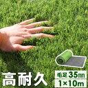 高品質&安全なEU基準【送料無料】 人工芝 ロール 1m×10m 毛足35mm u字ピン 24本 水はけ リアル 10m ピン セット 高…