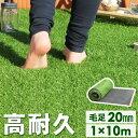 高品質&安全なEU基準【送料無料】 人工芝 ロール 1m×10m 毛足20mm u字ピン 20本 水はけ リアル 10m ピン セット 高…
