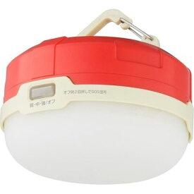グリーンハウス IPX4対応フック&マグネット付きLEDライト レッド GH-LED1WPA-RD