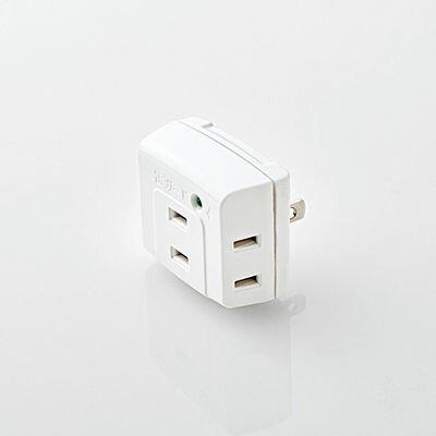 エレコム トリプルタップ/雷ガード/3個口/ホワイト T-KTR01WH