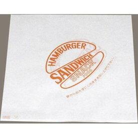 水野産業 バーガー袋(500枚入)(オレンジ 00033) XBC2203