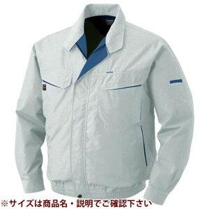 空調服 綿・ポリ混紡ワーク空調服(服のみ・シルバーXL) KU90470C06S5