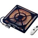 メトロ カーボン500W手元電コントロール式温風ヒーター MCU-501E-K