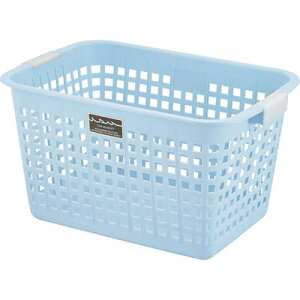 不動技研 ニューキングバスケット ブルー F05903 (洗濯かご おもちゃ 収納 カゴ 持ち手 付き) 4962191059372