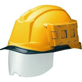 ミドリ安全 IDケース付ヘルメット(ワイドシールド付) SC-19PCLS-ID RA3 α イエロー/スモーク tr-1477099