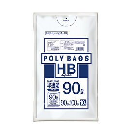 オルディ 【30個セット】ポリバッグHB 90L 半透明 10P PBHB-N90A-10 4972759530106