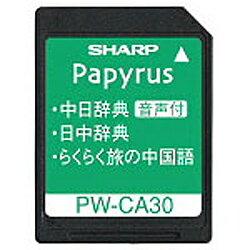 シャープ 音声付中国語辞書カード PW-CA30