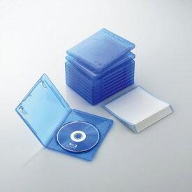 エレコム ブルーレイディスクケース/1枚収納/10パック/クリアブルー CCD-BLU110CBU