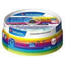 三菱化学メディア Verbatim製 データ用DVD-R DL 片面2層 8.5GB 2-8倍速 ワイド印刷エリア スピンドルケース入り 25枚 …