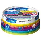 三菱化学メディア Verbatim製 データ用DVD-R DL 片面2層 8.5GB 2-8倍速 ワイド印刷エリア ス…
