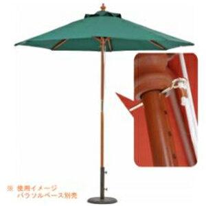 不二貿易 木製パラソル?φ210(グリーン) 210GR (210GR) (GREEN)(台座別売り) 38696