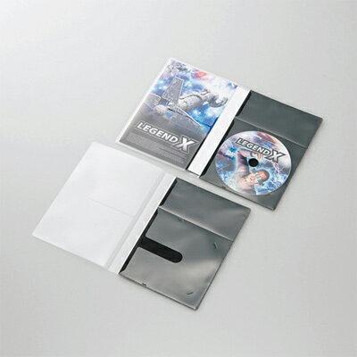 エレコム 市販ディスク圧縮ケース/DVD/1枚収納/10枚/ブラック (CCDDPD10BK) CCD-DPD10BK