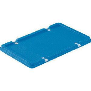 サンコー ボックス型コンテナー サンボックス#22フタ ロック付 ブルー tr-3425975