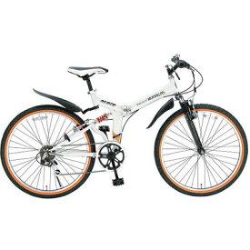 マイパラス 26インチ 折畳ATB自転車 6SP・Wサス ホワイト M-670-WH