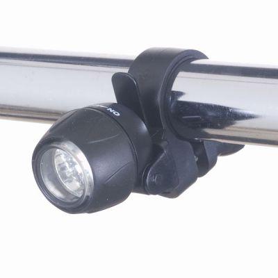 ヤザワ 自転車用LEDライト ミニタイプ 日亜製白色LED×3灯 LB101BK