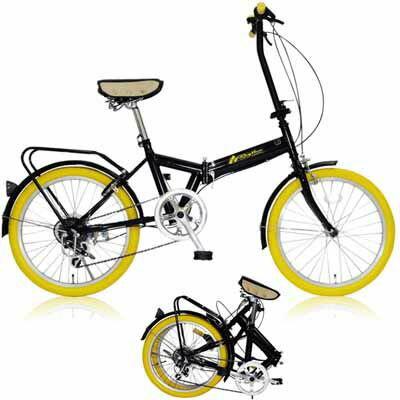 MIWA 20型折りたたみ自転車 FD1B-206 イエロー OTM-20825