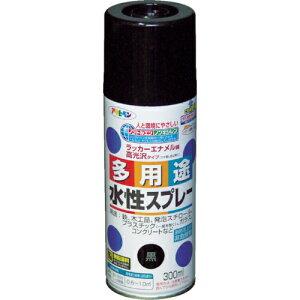 アサヒペン アサヒペン 水性多用途スプレー300ML 黒 4970925565051