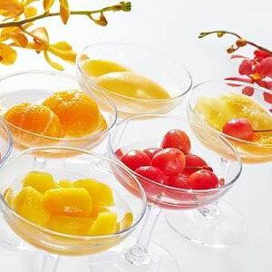 銀座千疋屋 銀座フルーツコンポート [まるごとみかん、白桃、さくらんぼ、フルーツポンチ、フルーツトマト、マンゴー 約150g×各1] PGS-116