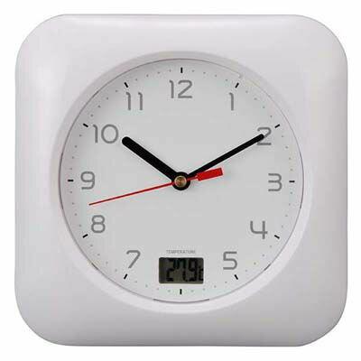 オーム電機 お風呂用クロック&温度計 HB-T10-W