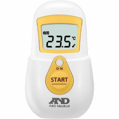 A&D 肌に触れずに、すばやく測れる!非接触体温計でこピッと(イエロー) UTR-701A-Y