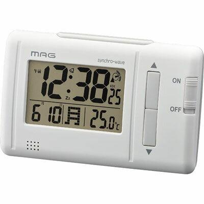 MAG デジタル電波時計「ファルツ」(ホワイト) T-692-WH-Z【納期目安:1週間】