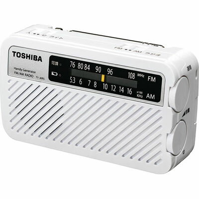 東芝 手回し充電ラジオ TY-JKR5-W