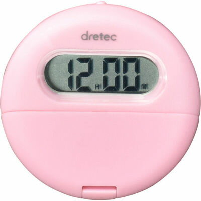 DRETEC ポケットなどに取り付けて使えるクリップ付バイブタイマー(ピンク) T-558PK
