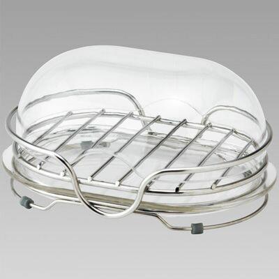 レック 石鹸置き ステンレス 石けん皿 フタ付き(置き型)BB-086 (ソープディッシュ) 4903320088603