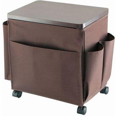 不動技研 ウッドテーブルワゴン サイドテーブルワゴン ブラウン キャスター付き 4962191012339