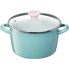 高木金属工業 両手鍋 深型 ホーロー鍋 ファニーブルー 22cm ( 琺瑯 鍋 ) 4975357300591