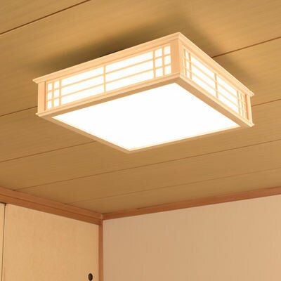 オーム電機 天然木使用LED和風シーリングライト8畳用電球色 LE-W30L8K-K