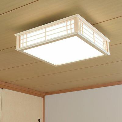 オーム電機 天然木使用LED和風シーリングライト8畳用昼光色 LE-W30D8K-K