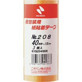 ニチバン ニチバン 紙粘着テープ208H−40 208H40