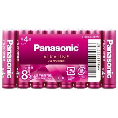 パナソニック パナソニック カラーアルカリ乾電池 単4形 バイオレットピンク LR03LJR/8SW 8本入 4984824917187【納期目安:2週間】