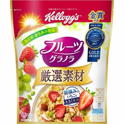 日本ケロッグ ケロッグ 厳選素材 フルーツグラノラ 徳用袋 500g E337026H