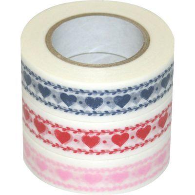 ナカバヤシ D tape 印刷柄マスキングテープ 15mm 3本パック CH DT15-3P-15 E413808H【納期目安:2週間】