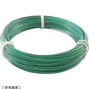 トラスコ中山 TRUSCO カラー針金 ビニール被覆タイプ 2.0mmX25m 緑 tr-7592582