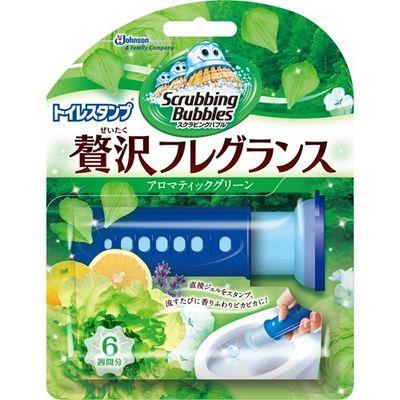 ジョンソン スクラビングバブル トイレスタンプ 贅沢フレグランス アロマティックグリーンの香り 本体 38g E445847H