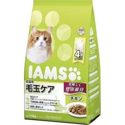 マースジャパンリミテッド アイムス 成猫用 毛玉ケア チキン 1.5kg E472086H