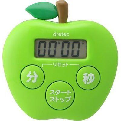 DRETEC りんごタイマー(グリーン) T-534GN
