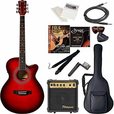 ENTRY Sepia Crue セピアクルー エレクトリックアコースティックギター 初心者入門エントリーセット EAW-01/RDS レッドサンバースト 4534853029308