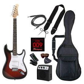 LIGHT PhotoGenic エレキギター 初心者入門ライトセット ストラトキャスタータイプ ST-180/RDS レッドサンバースト ローズウッド指板 4534853537148