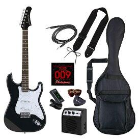 LIGHT PhotoGenic エレキギター 初心者入門ライトセット ストラトキャスタータイプ ST-180/HBK マッチングヘッドブラック ローズウッド指板 4534853537940